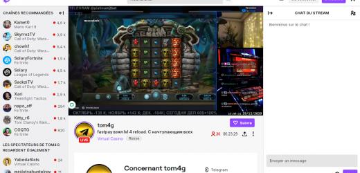 Que dire sur la section de casino en streaming présente sur Twitch ?