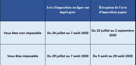 Quand Recevrons-nous l'avis d'imposition 2021 ?